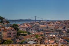Взгляд Лиссабона Португалии стоковые изображения rf