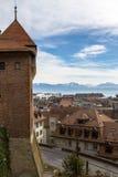 Взгляд Лозанны от собора Стоковое Фото
