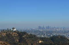Взгляд Лос-Анджелеса над городом Стоковые Изображения