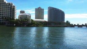 Взгляд Майами, важнейшая область Brickell акции видеоматериалы