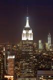 Взгляд Манхаттана на сумраке, Нью-Йорке, США Стоковая Фотография