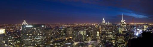 Взгляд Манхаттана от центра Рокефеллер, Нью-Йорка, США Стоковые Изображения RF
