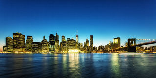 Взгляд Манхаттана стоковое изображение rf