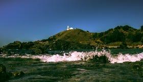 Взгляд маяка бассейна утеса Macquarie порта Стоковое Фото