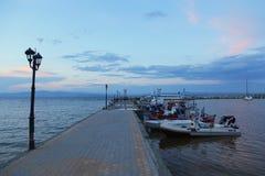 Взгляд малого рыбного порта стоковая фотография rf