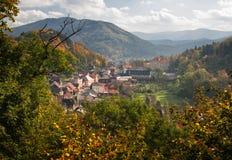 Взгляд малой деревни пастырский Стоковые Фотографии RF