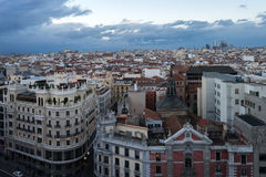 Взгляд Мадрида от artes circulo de bellas стоковое фото rf