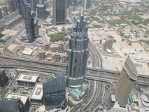 взгляд метро Дубай города панорамный Стоковые Изображения RF