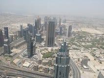 взгляд метро Дубай города панорамный Стоковое Изображение