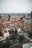 Взгляд милана от башен Garibaldi Стоковое фото RF