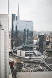 Взгляд милана от башен Garibaldi Стоковые Изображения RF