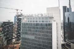 Взгляд милана от башен Garibaldi Стоковое Фото