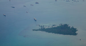 Взгляд моря в Сингапуре Стоковые Изображения RF
