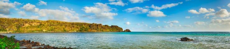 Взгляд моря на времени дня Маврикий панорама Стоковые Изображения