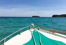 Взгляд моря от быстроходного катера в острове Phu Quoc Стоковые Фотографии RF