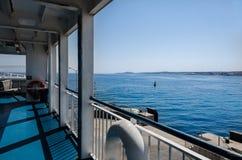 Взгляд моря от корабля Стоковое фото RF