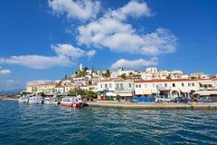 взгляд моря poros острова Греции Стоковое фото RF