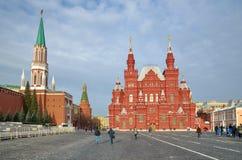 Взгляд Москвы Кремля и исторического музея, Москвы, России Стоковое Изображение