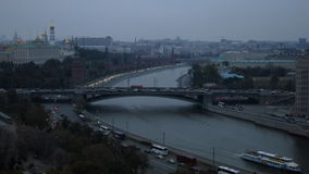 Взгляд Москвы Кремля сток-видео