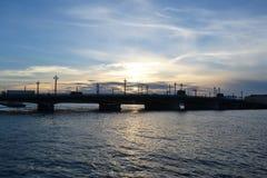 Взгляд моста аннунциации на заходе солнца Стоковое Фото