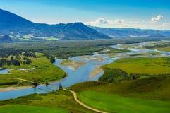 Взгляд моста и долины горы Стоковое фото RF
