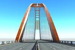 Взгляд моста от моря иллюстрация вектора