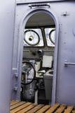Взгляд моста управлением военного корабля, селективный фокус Стоковые Фотографии RF