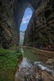 Взгляд моста Чунцина Wulong естественный Стоковая Фотография