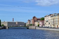 Взгляд моста Izmailovsky Стоковые Изображения