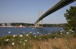 Взгляд моста MacKay, ориентир ориентира в Halifax Новой Шотландии Стоковые Изображения