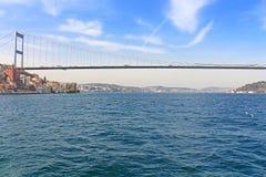 Взгляд моста Mehmet султана Fatih, Стамбул, Турция стоковое изображение