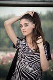 Взгляд моды девушки стоковое фото rf