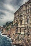 взгляд музея monte carlo Монако океанографический стоковое изображение rf