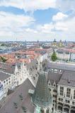Взгляд Мюнхена как увидено от башни Neues Rathaus Стоковое фото RF