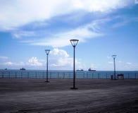 Взгляд набережной, Средиземное море, Кипр стоковое изображение