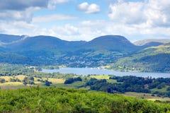 Взгляд национального парка Англии Великобритании района озера Windermere Стоковая Фотография