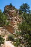 Взгляд национального парка Сиона от верхней части посадки Angel's, Юты, США Стоковая Фотография