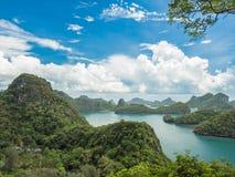 Взгляд национального парка Angthong Koh Mue, Samui стоковые фотографии rf