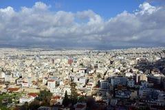 Взгляд над Афиныы стоковая фотография rf