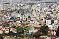 Взгляд над Афиныы стоковые изображения
