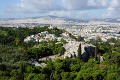 Взгляд над Афиныы стоковые изображения rf