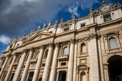 Взгляд на базилике St Peter, Ватикана Стоковая Фотография RF