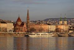 Взгляд на банке Buda Будапешта, Венгрии Стоковая Фотография