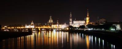 Взгляд на барочном горизонте города Дрездена Стоковые Изображения RF