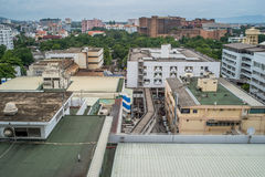 Взгляд на больнице Стоковое Изображение