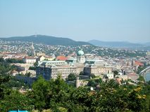 Взгляд над Будапештом и Donau Стоковое Изображение