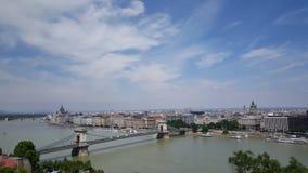 Взгляд над Будапештом стоковые изображения rf