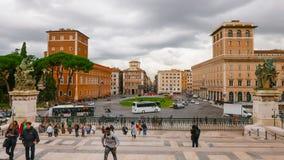 Взгляд над венецианским квадратом в Риме - аркаде Venezia Стоковая Фотография