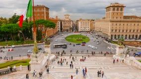 Взгляд над венецианским квадратом в Риме - аркаде Venezia Стоковые Фотографии RF
