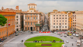 Взгляд над венецианским квадратом в Риме - аркаде Venezia Стоковое Изображение RF